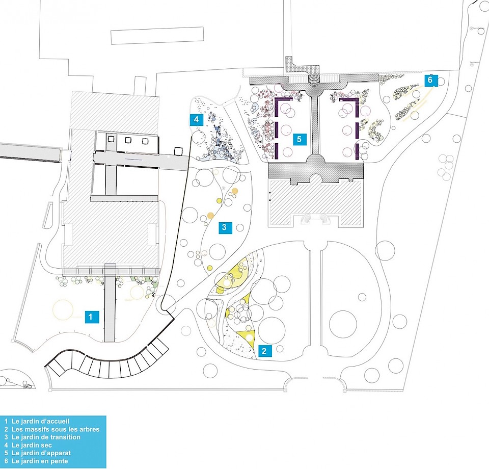 Image - Plan masse du jardin, dessin Brice Goyard